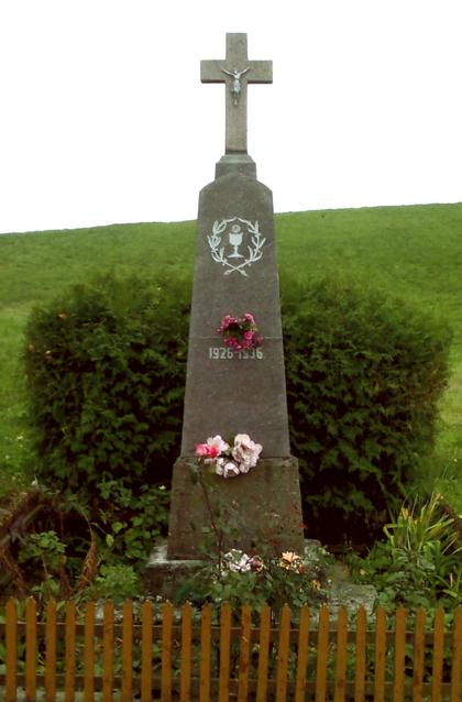 Akmeninis kryžius su tvorele stovintis Paliūnų kaimo kelių sankryžoje, netoli Paransevičių (dabar Stoskeliūnų) sodybos. Kryžius pastatytas 1936 m. Šv. Kazimiero draugijos Paliūnų skyriaus pastangomis