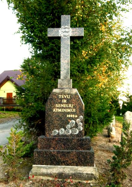 Kalkauskų šeimos kryžius, pastatytas 2008 m. ties sodyba, Mickevičiaus g.