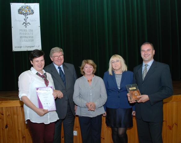 Regina ir Vidas Pykiai su Lenkijos regioninių ir vietinių produktų rūmų vadovais bei Seinų žemės ūkio konsultavimo tarnybos specialiste
