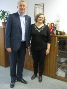 UAB Reso Europa Service valdybos pirmininkas Bronius Vaznelis ir LLD Suvalkų skyriaus pirmininkė Onutė Virbylienė