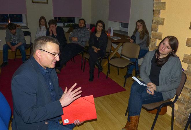 Vakaro svečią klausinėjo Jolanta Malinauskaitė-Vektorienė