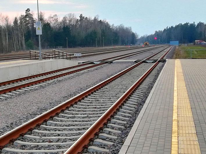 Mockavos traukinių stoties bėgiai
